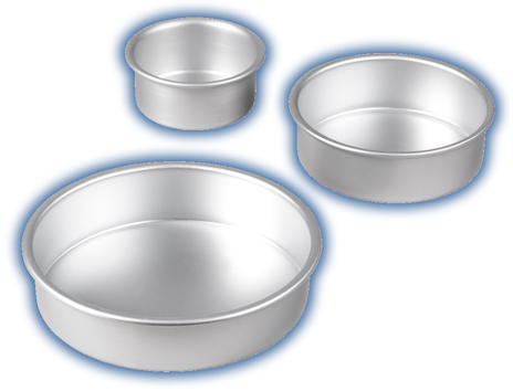 Wilton Perfect Performance Tiered Trio Round Cake Pan Set 3pc