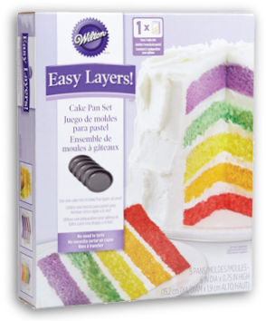 Wilton Easy Layer Cake Pan Set 5pc