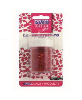PME Red Glitter Flakes 7g