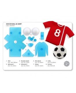 JEM Soccer Shirt & Ball Cutter Set 9pc