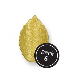 PME Small Gold Rose Leaves 6pk