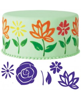 Wilton Flowers Cake Stamp Set 6pc