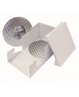 "PME 8"" Cake Box & Round Cake Card (3mm thick)"
