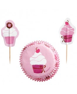 Wilton Pink Party Cupcake Combo Pack 24pk