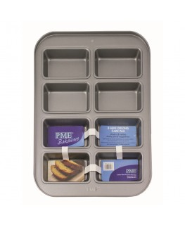 PME Non Stick 8 Mini Oblong Cake Pan 39 x 29 x 3.8cm