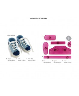 JEM High Cut Sneaker Cutter & Embosser Set 6pc