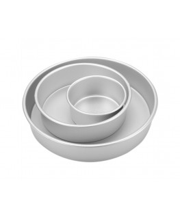 "Wilton Decorator Preferred Pan Set Round 3"" Deep 3pc"