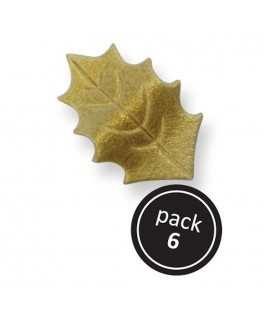 PME Gold Variegated Holly Leaves 6pk