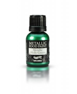 Rainbow Dust Metallic Food Paint Holly Green 25ml