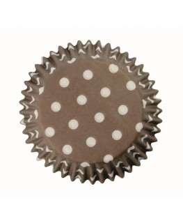 PME Brown Polka Dots Cupcake Cases 60pk