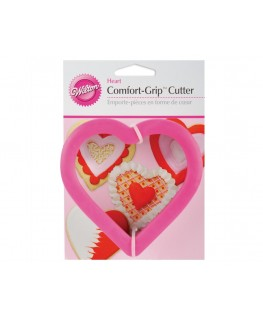 Wilton Heart Comfort Grip Cutter 4""
