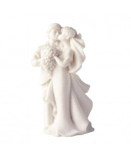 Culpitt Resin Just Married with Flowers Bride and Groom