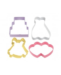 Wilton Wedding Cookie Cutter Set 4pc