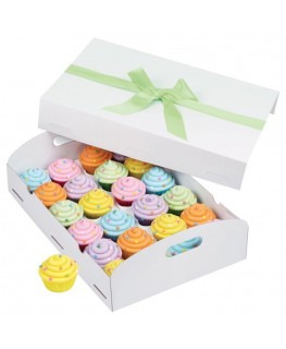 Wilton White Folding Tray Cupcake Box (Holds 24 Cupcakes)