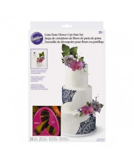 Wilton Gum Paste Flower Cutter Set 28pc