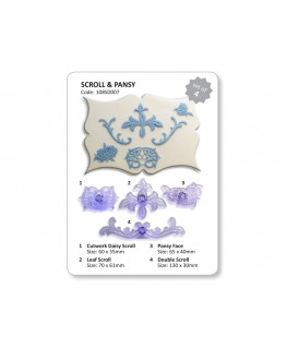 JEM Scrolls and Pansy Cutter Set 4pc