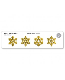 JEM Angel Snowflakes Cutter Set 4pc