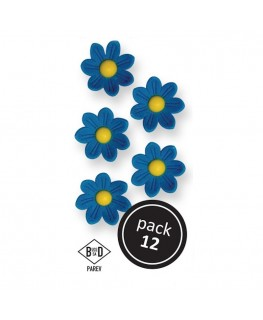 PME Blue Daisies Sugar Decorationss 12pk
