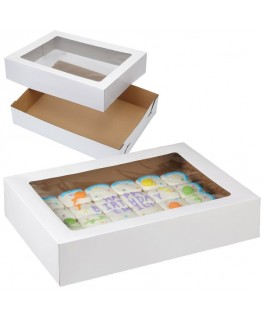 "Wilton Corrugated Cake Box (With Window) 19"" x 14"" x 4"" 2pk"