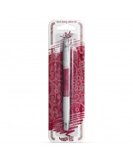 Rainbow Dust Double Sided Edible Food Pen - Burgundy