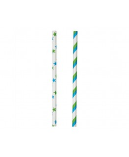 Wilton Blue/Green Lollipop Sticks 15cm, 30pk
