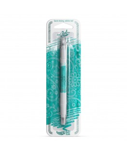 Rainbow Dust Double Sided Edible Food Pen - Teal