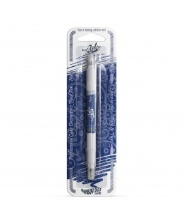 Rainbow Dust Double Sided Edible Food Pen - Navy Blue