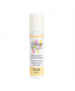 Colour Splash Edible Food Colour Spray Metallic Gold 100ml