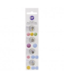 Wilton Round and Star Large Tip Set 4pc