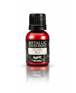 Rainbow Dust Metallic Food Paint Red 25ml
