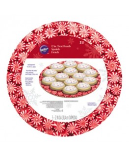 "Wilton Peppermint 12"" Round Cake Boards 3pk"