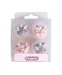 Culpitt Cats Sugar Pipings 12pk
