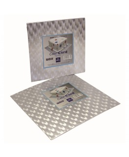 "PME 4"" Square Cake Card (3mm thick)"