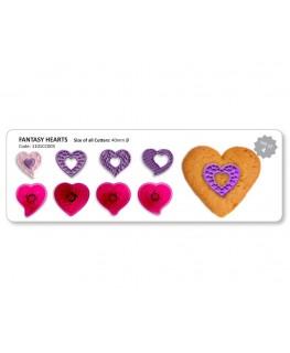 JEM Fantasy Hearts Cutter Set 4pc