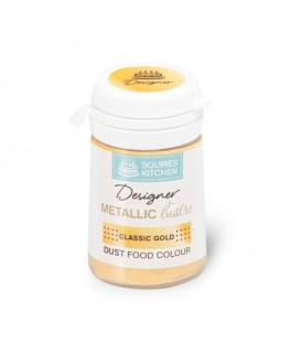 Squires Kitchen Designer Metallic Lustre Dust Classic Gold 5g