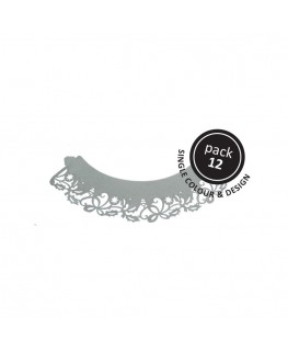 PME Holly Cupcake Wrappers Silver 12pk