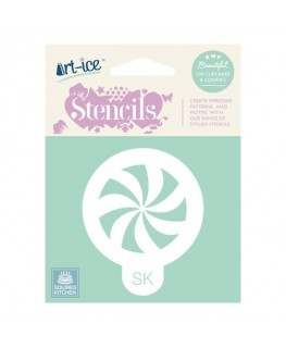 Squires Kitchen Art-ice Stencil Round Celebration Pinwheel