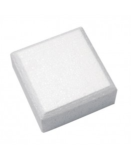 "Culpitt 12"" Square Cake Dummy (4' Deep) (Bevelled Edge)"