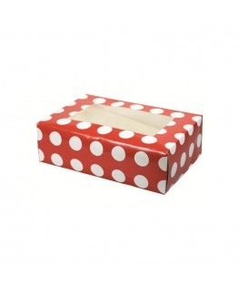 Culpitt Red Polka Dot 6 Cupcake/Muffin Box