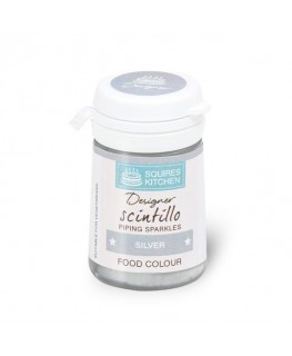 Squires Kitchen Designer Scintillos Coloured Piping Gel Silver 25g