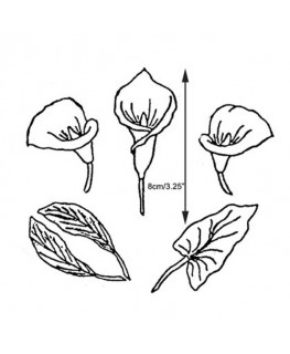 Marion Frost Patchwork Cutter Arum Lily Set of 10 -