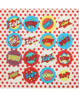 Culpitt Printed Sugar Decorations Superhero 16pc