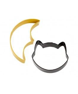 Wilton Bat and Cat Metal Cookie Cutter Set 2pc