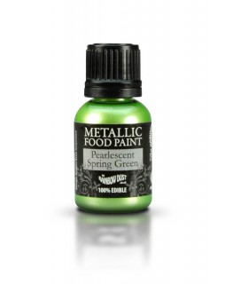 Rainbow Dust Metallic Food Paint Pearlescent Spring Green 25ml