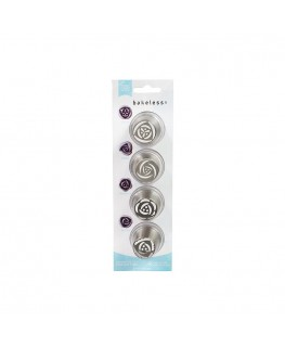 Bakeless Flower Nozzle Set of 4