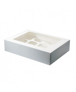 Culpitt White 12 Cupcake/Muffin Box