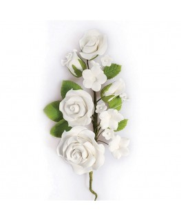 Culpitt Gumpaste White Rose Spray 145mm