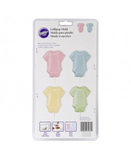 Wilton Baby T-Shirt 4 Cavity Lollipop Mould