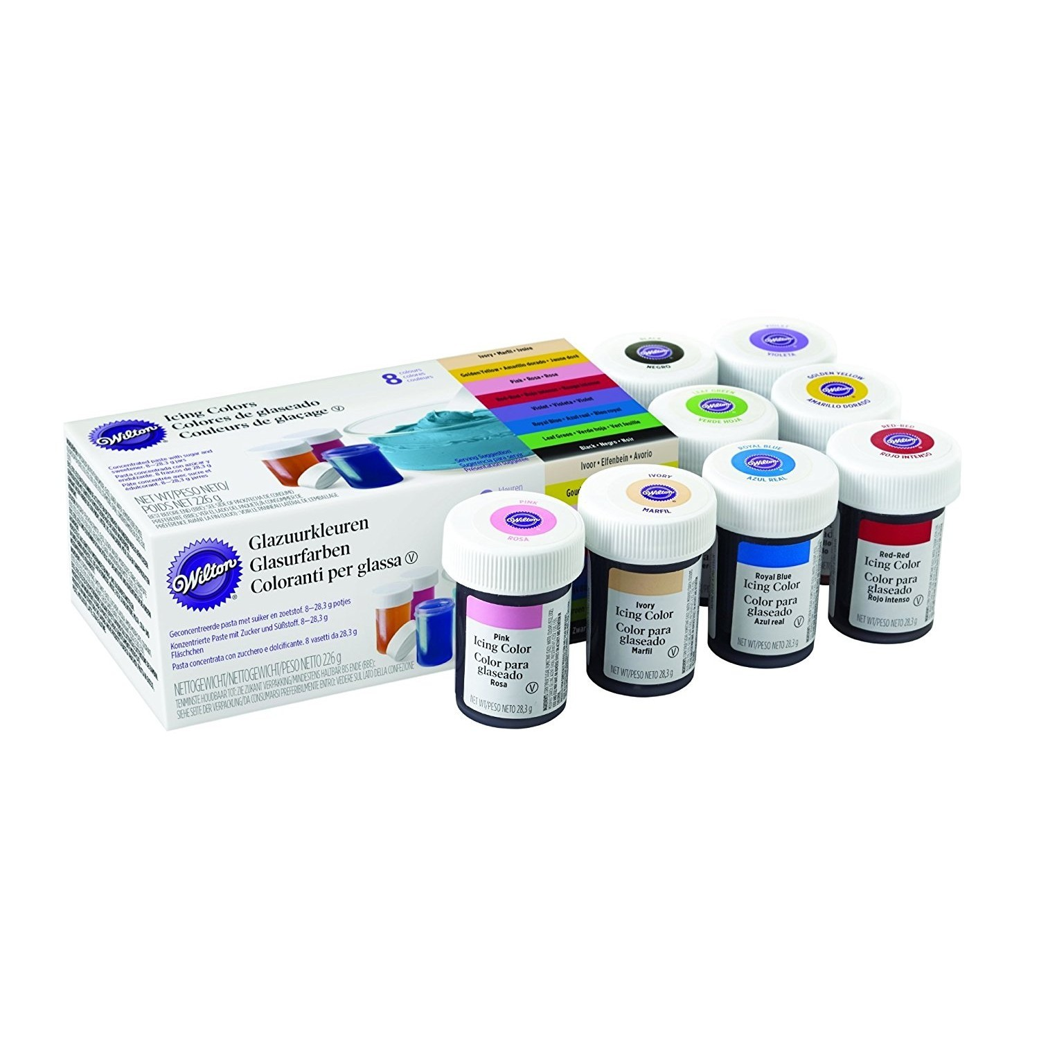 Wilton Icing Colour Gel Paste Set of 8 Colours - £9.99