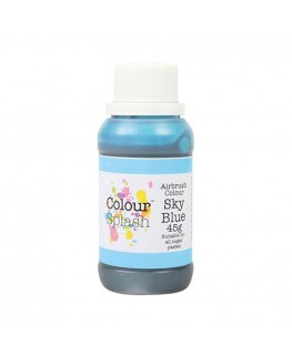 Colour Splash Edible Airbrush Colour - Sky Blue 45g